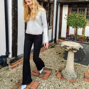 Dagmar Noelle Sweater, BA&SH Jeans, ASOS Pointed Pumps