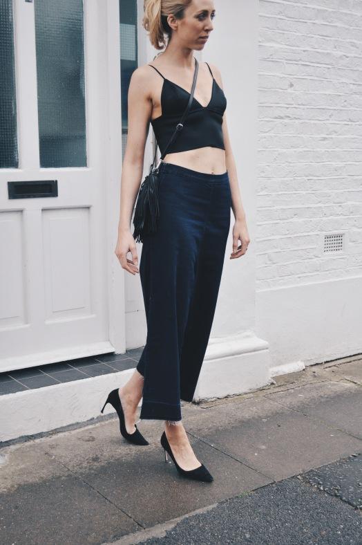 Wang Bralette & Denim Culottes