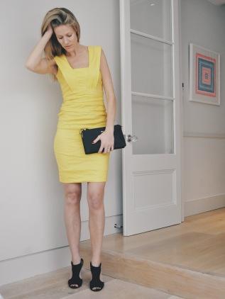 Dress: Nicole Miller