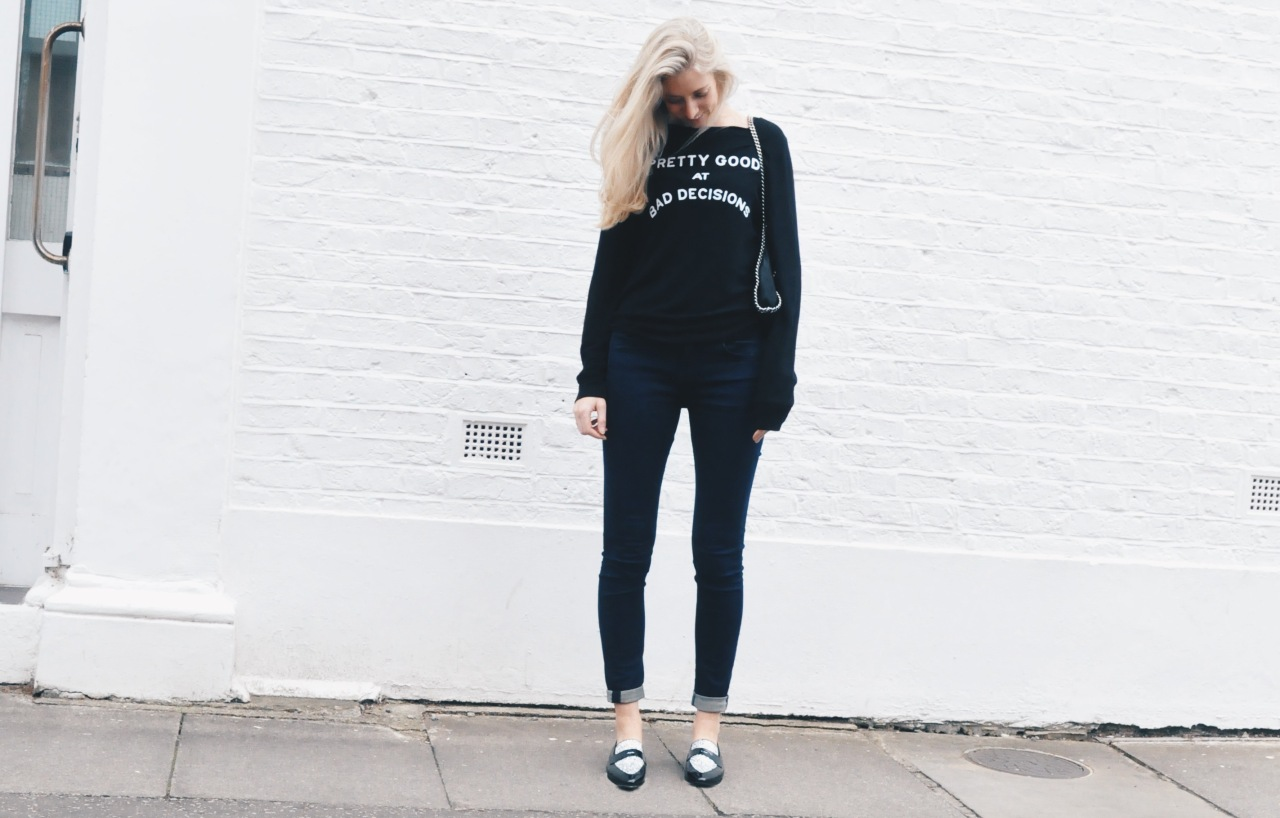 Tall Fashion Wildfox Sweater Jumper Loafers Jeans Long Inseam