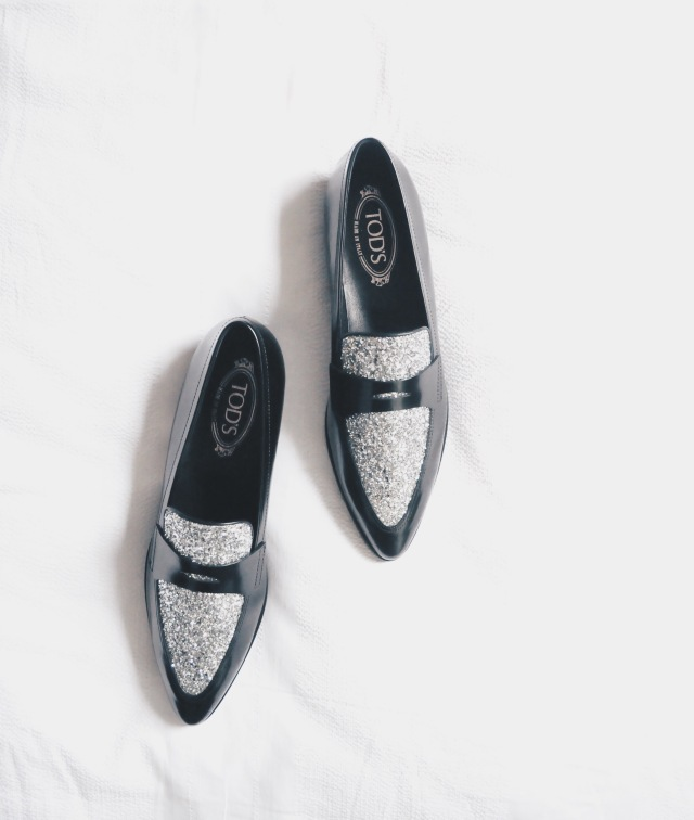 Tall Fashion Large Feet Embellished Loafers