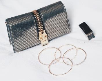 Gold Accessories Tom Ford Zip Clutch